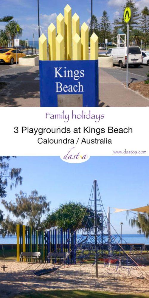 Three playgrounds at Kings Beach on the Sunshine Coast