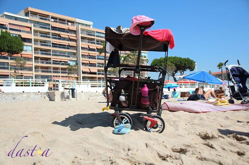 Fuxtec Bollerwagen am Strand
