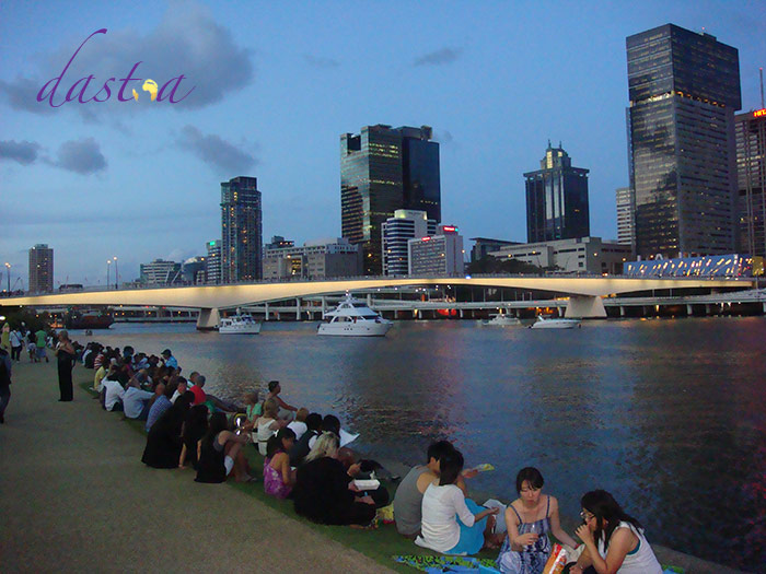Silvester an der South Bank in Brisbane