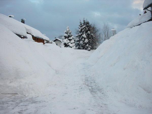 Stadt Regen / Bayerischer Wald - Winter im Jahr 2006