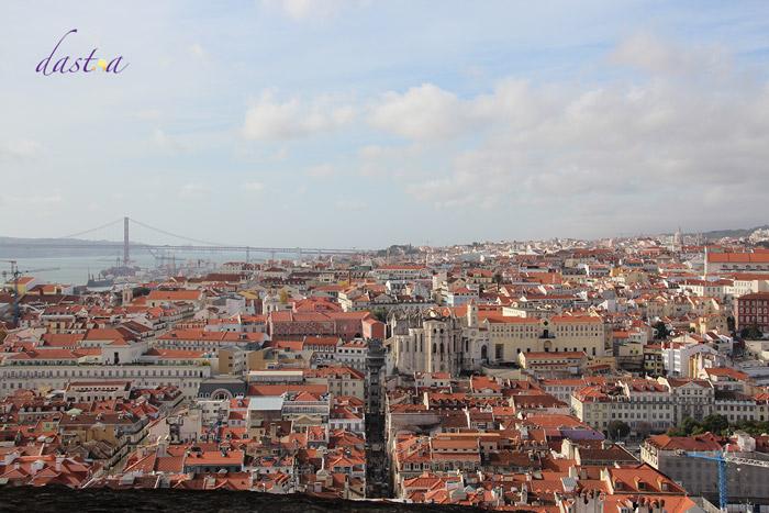 Castelo de São Jorge - Blick auf die Stadt