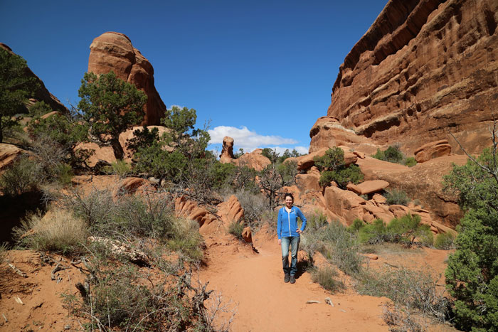 Arches National Park - Devils Garden Trail mit Baby