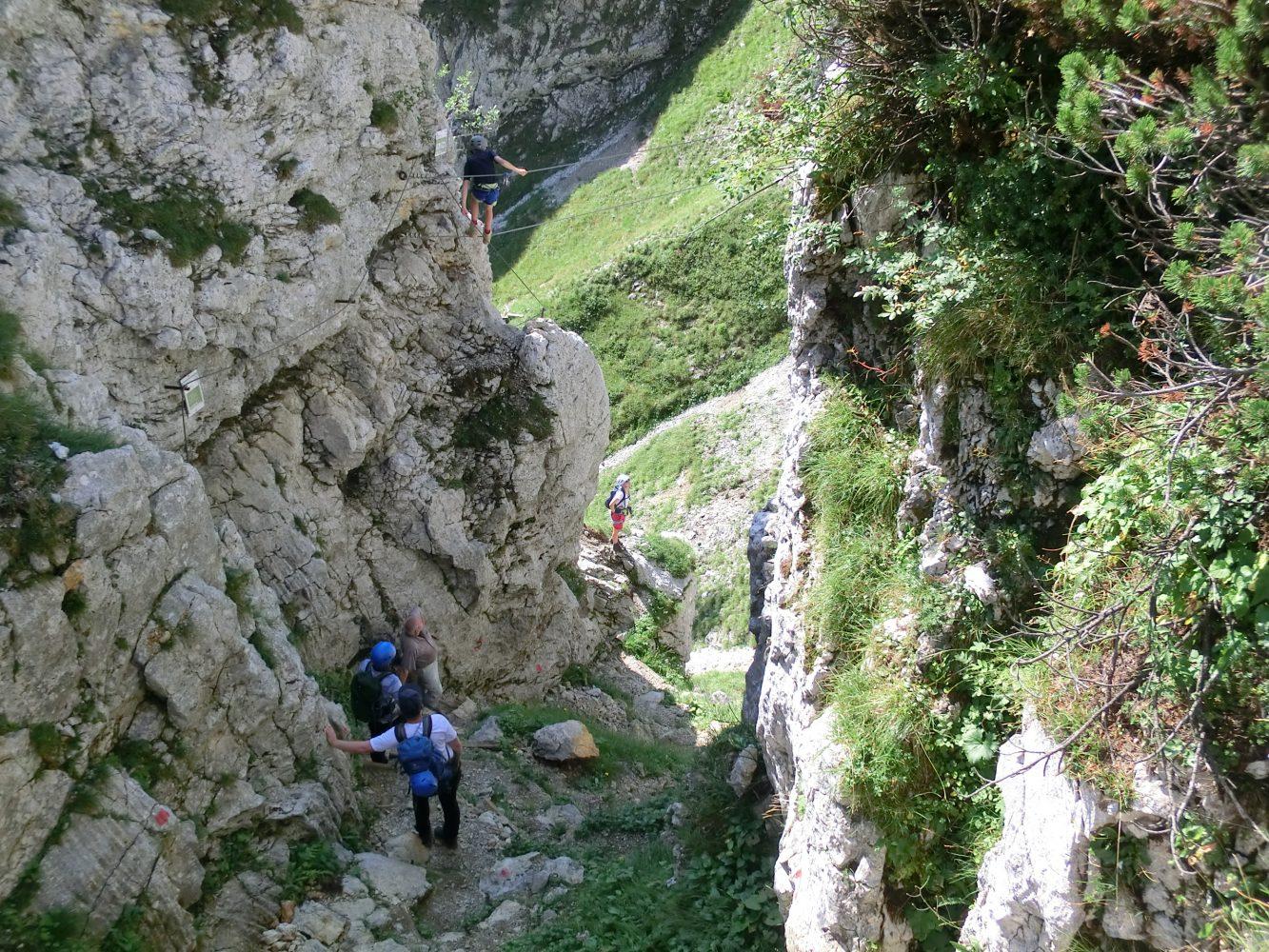 leichte Klettereien machen die Tour interessant
