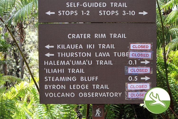 Hawai'i Volcanoes National Park - Wanderwege nach Vulkanausbruch